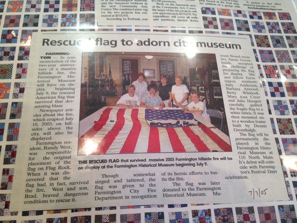 Flag Rock newspaper clipping