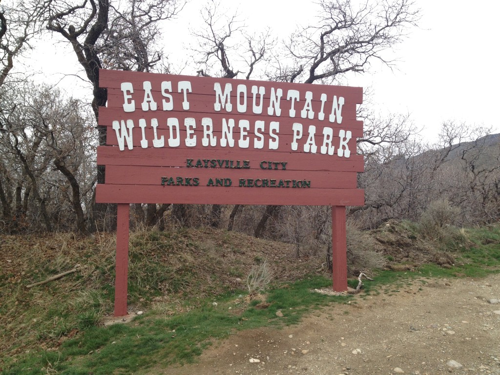 Sign at the trail start