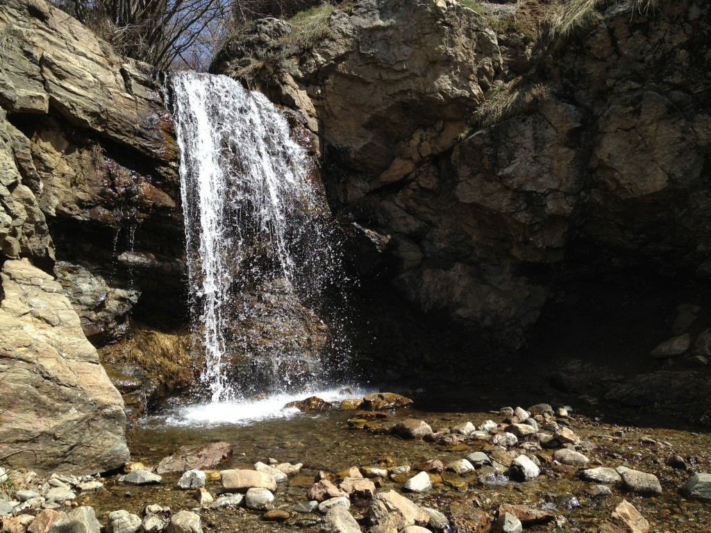 Lower waterfalls in Adam's Canyon
