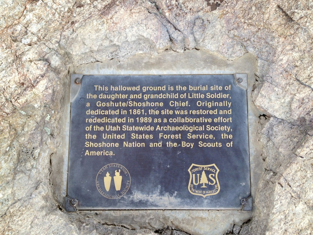 Here is the plaque that is placed at the foot of the site.