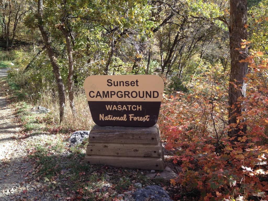 Entrance area to the campground