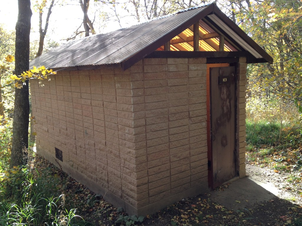 One of the two outhouses