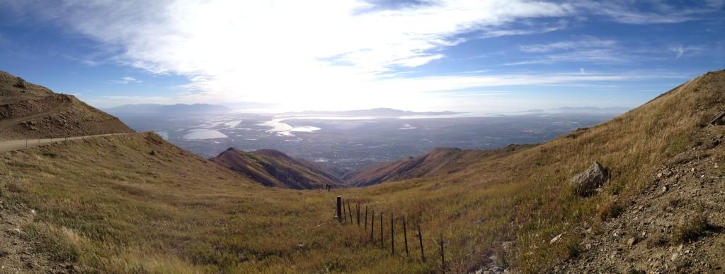 Panorama of Davis and Salt Lake Counties