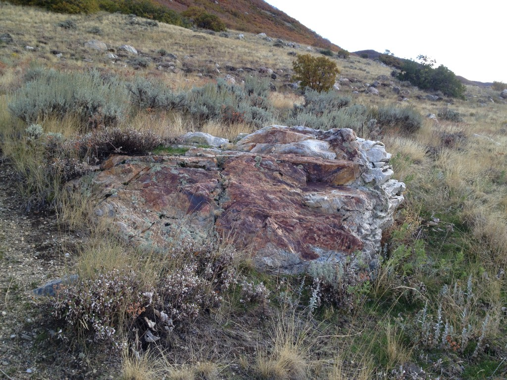Rusted Rock - This is where you should turn off to start bushwhacking
