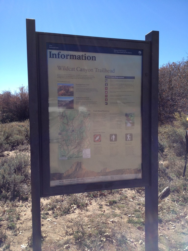 Begin the hike at the Wildcat Canyon Trailhead