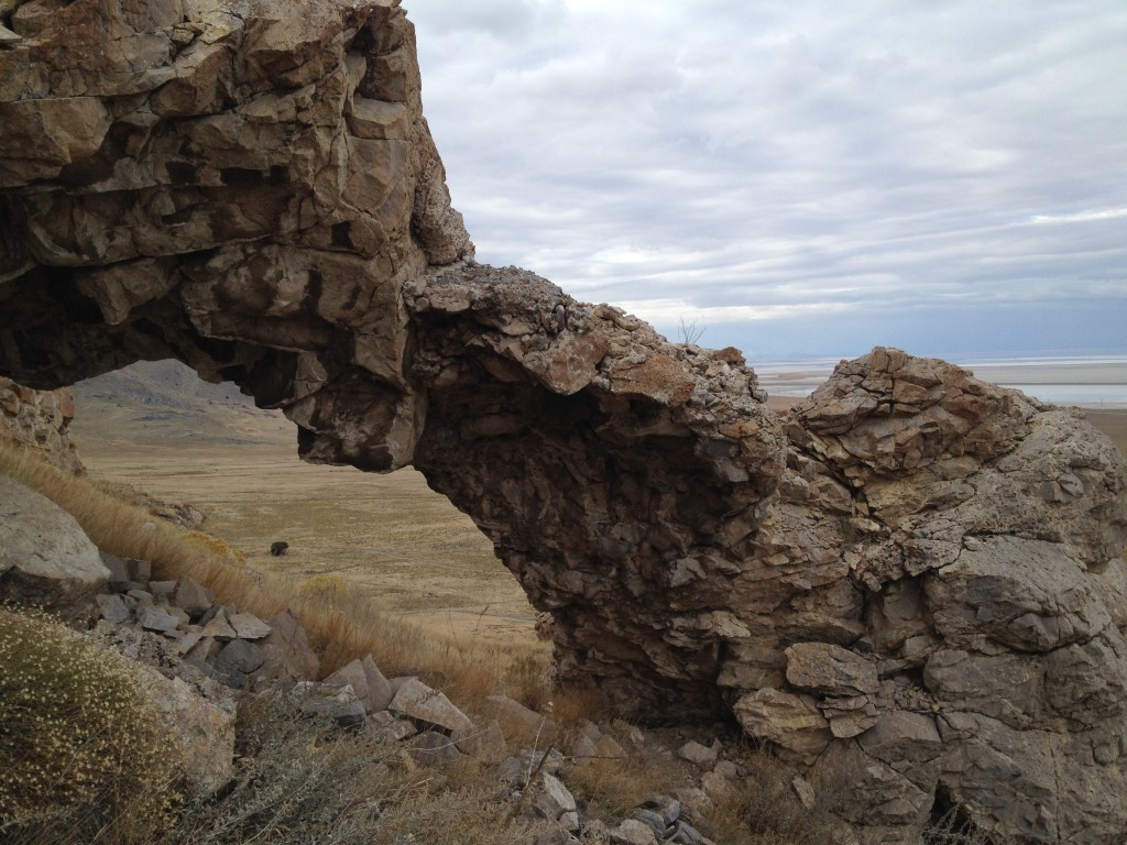Crumbling Arch - a free standing arch that seems to be falling apart.