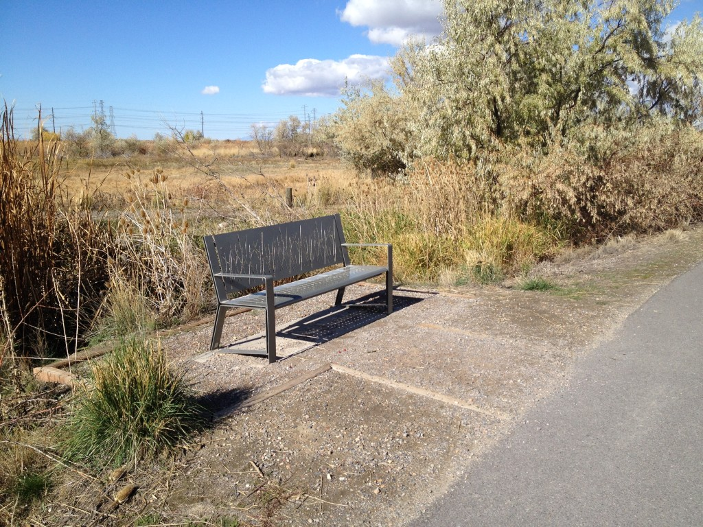 One of many benches along the way