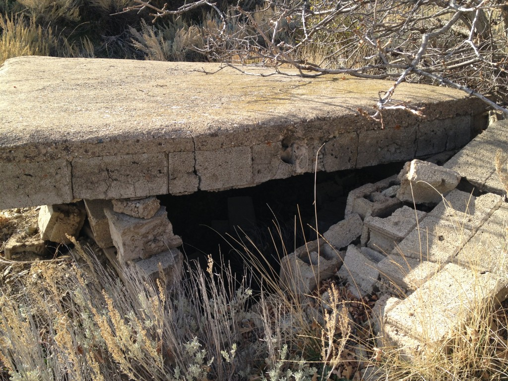 There isn't much to this structure.  It does have what appears to be a doorway.