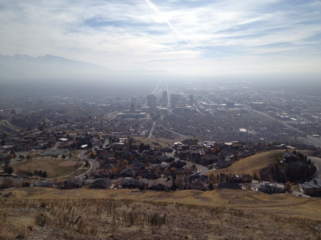 Amazing views of the Salt Lake Valley even on smoggy days