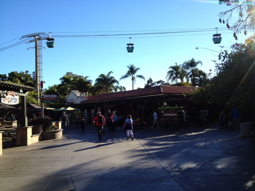 Skyfari tram ride is a great way to see the zoo from above and get around to the other side