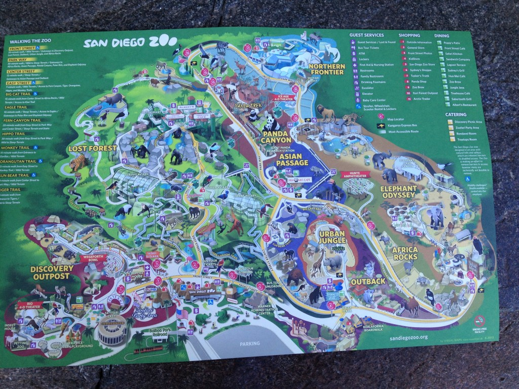 San Diego Zoo map.  You get maps right by the entrance to the zoo.