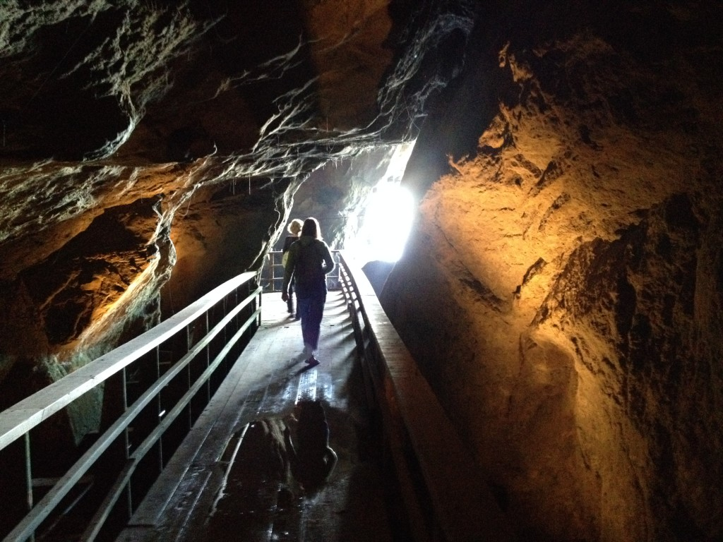 At the bottom of the Tunnel and in the Sunny Jim Cave