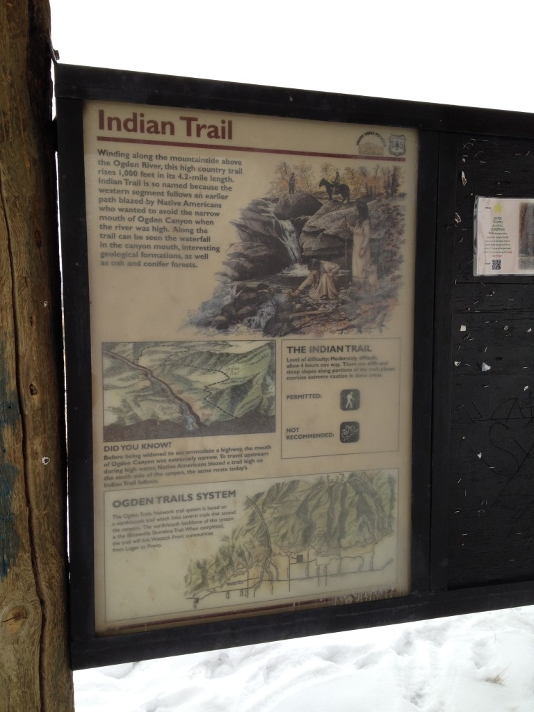The start of the trail has a small pavilion with information about the trail.