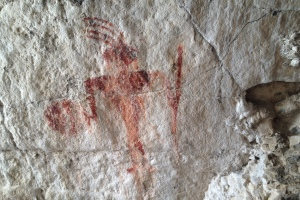 Red Warrior Pictograph - Timpie Valley Utah