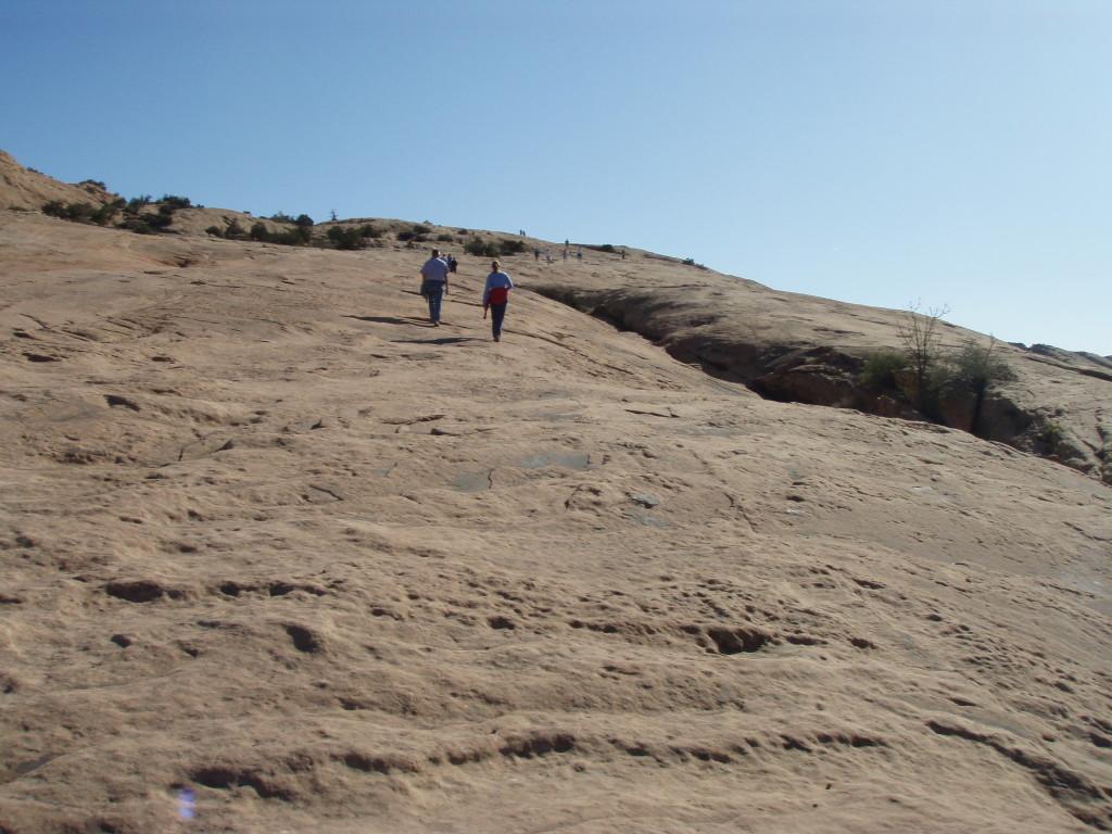 Hiking on the slickrock.