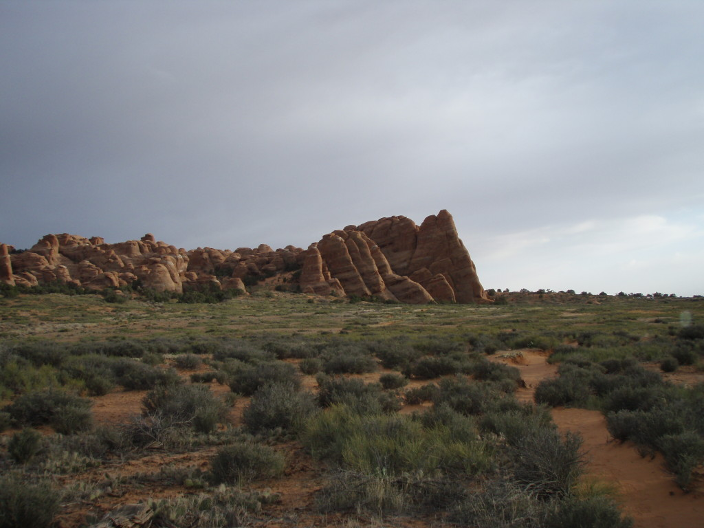 There are many sandstone fins in the area