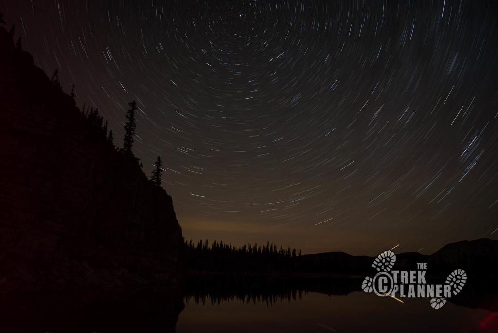 Notch Lake and stars.
