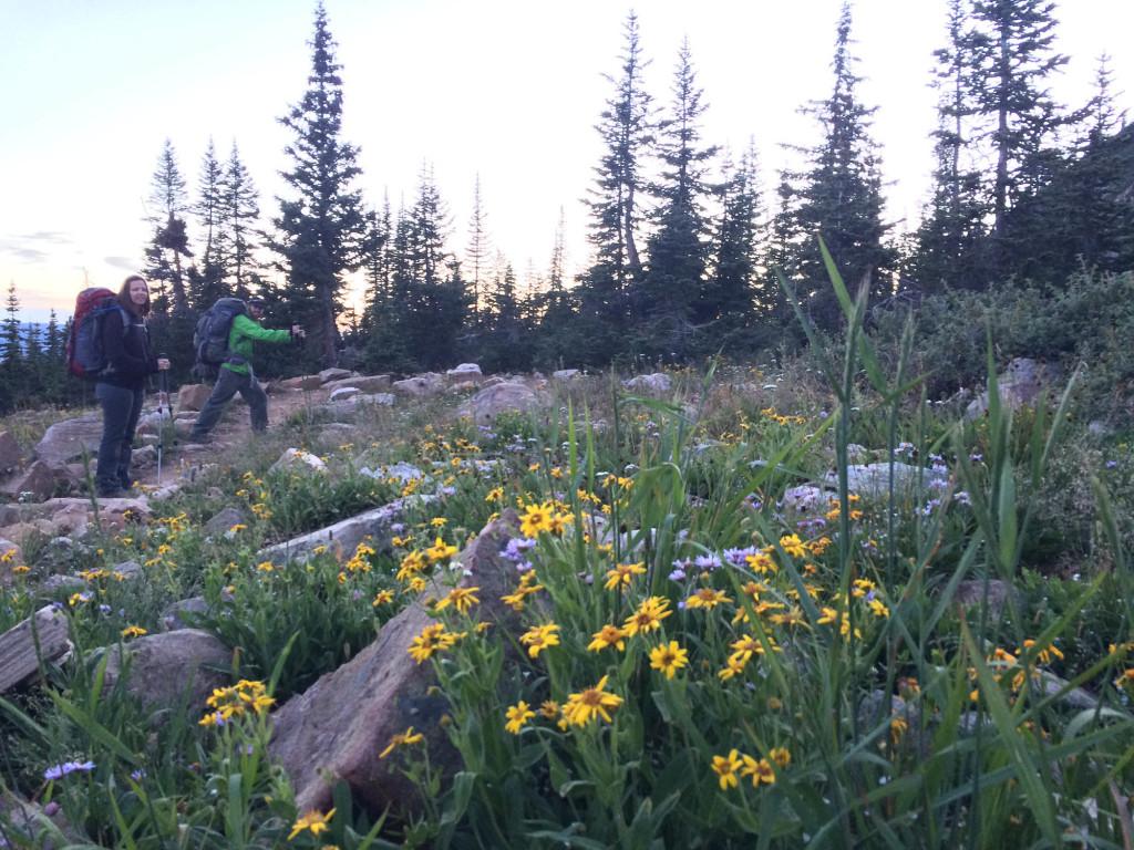 Starting the hike to Notch Lake.