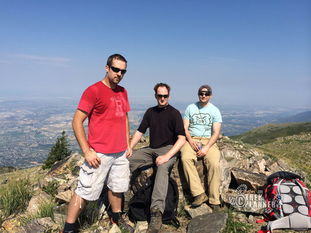 Some of the guys on top of Thurston.