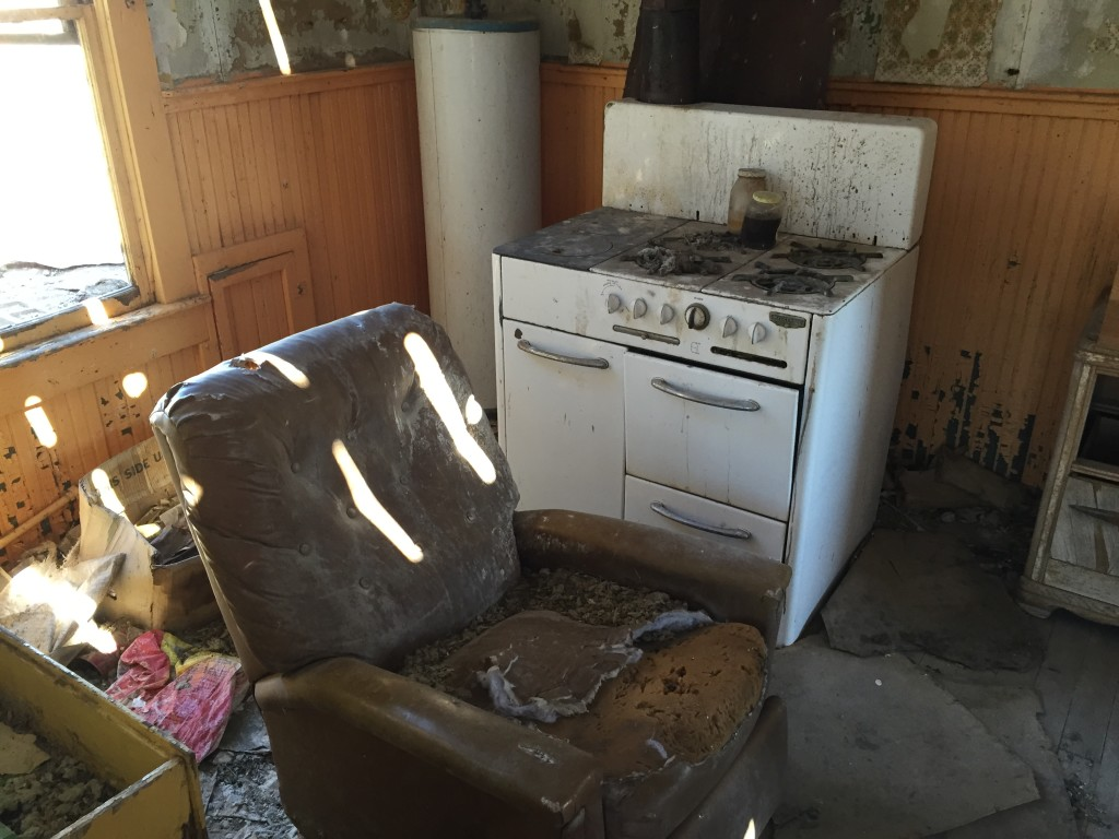 Stove and a reclining chair