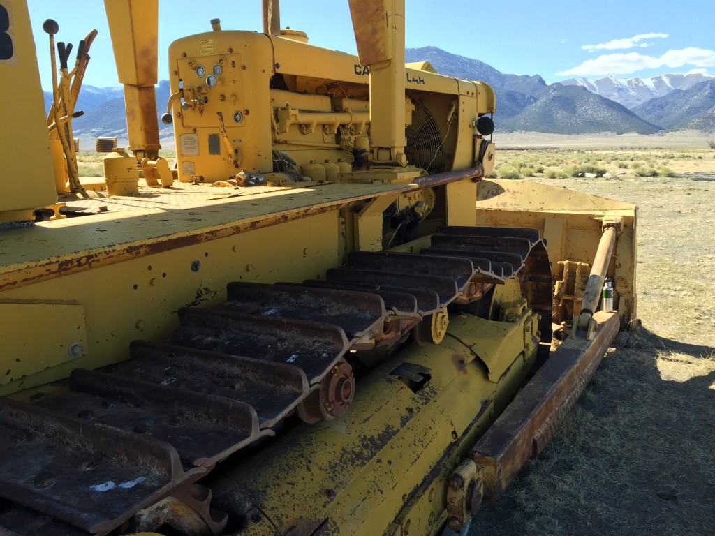 Broken bulldozer