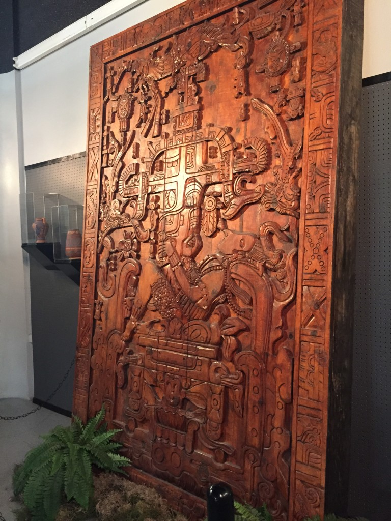 Wood carving after the Lid of the Sarcophagus