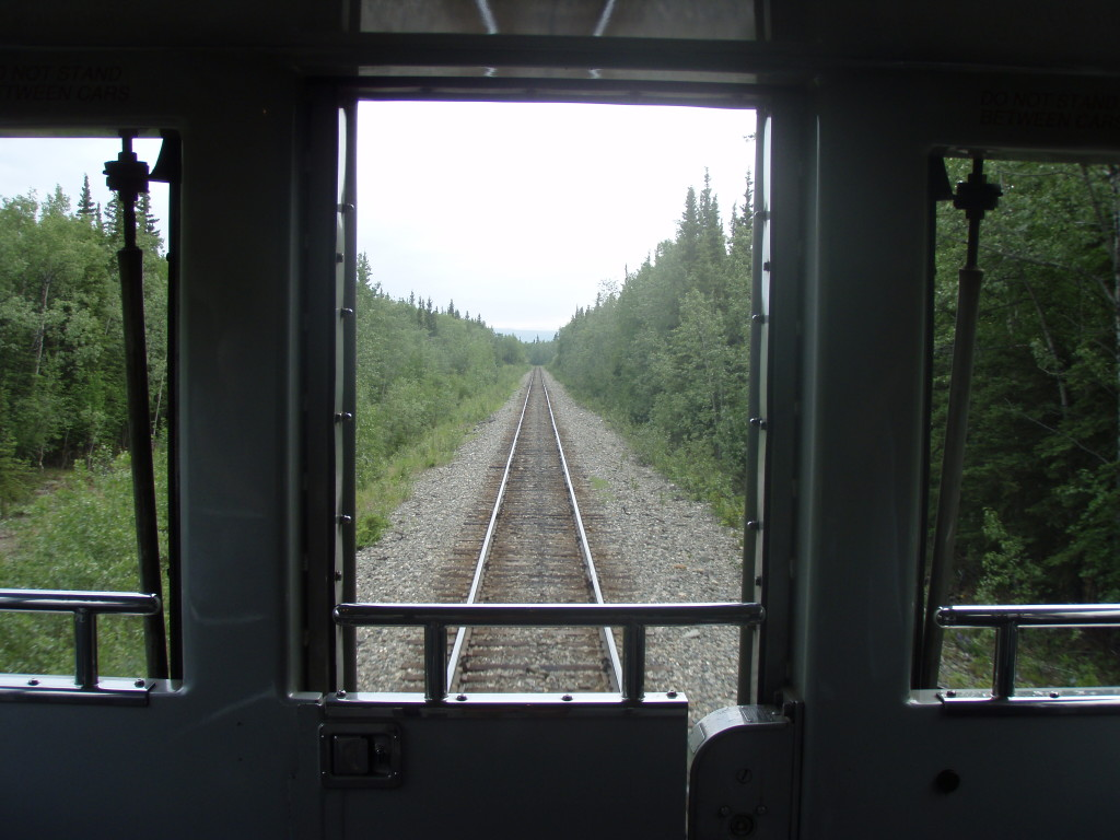 On this particular trip I was seated in the back of the train.