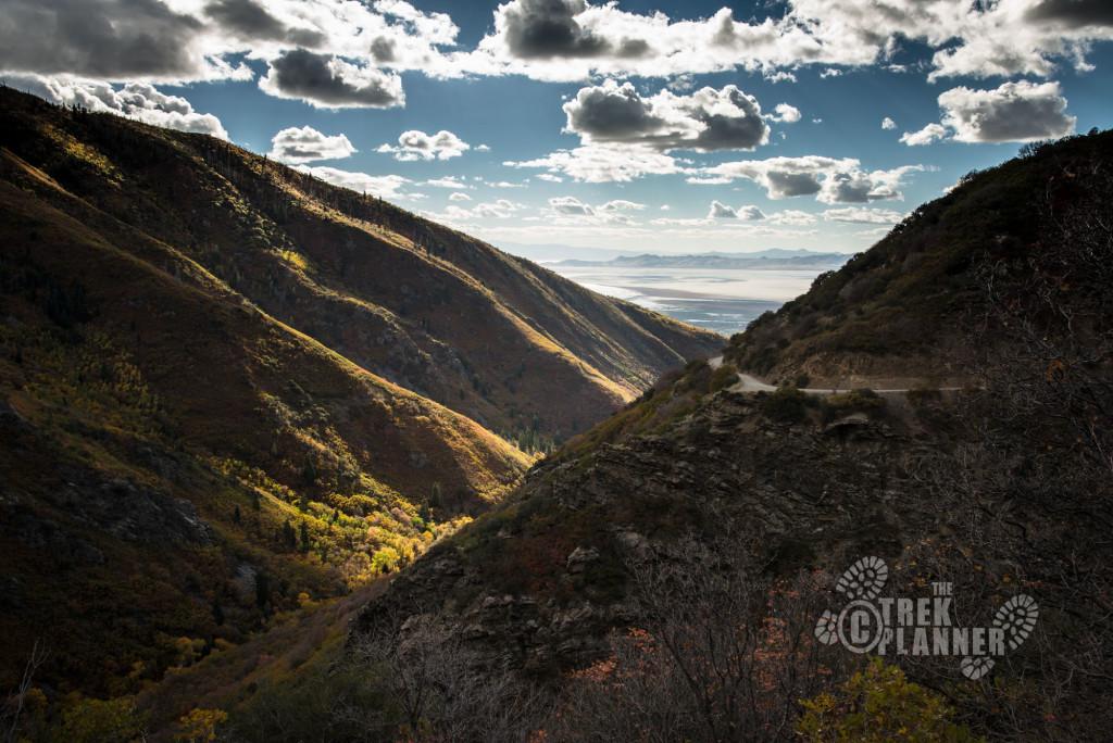 Looking down Farmington Canyon.