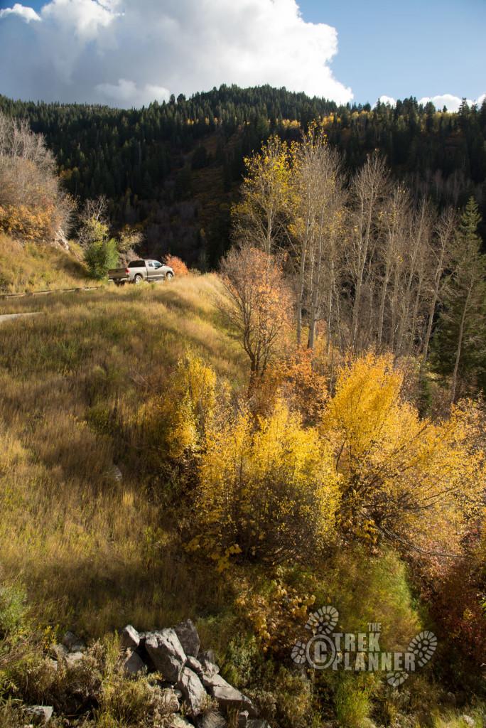 The top of Farmington Canyon.