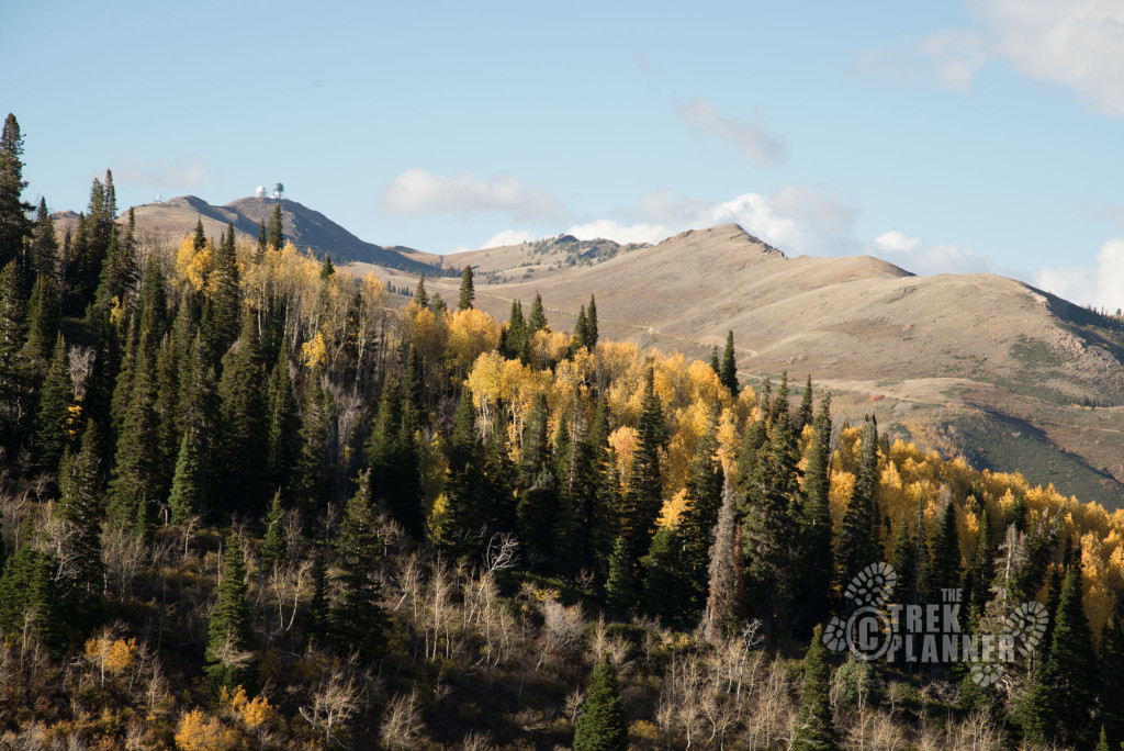 The view of Francis Peak as you climb up the back of the Wasatch.