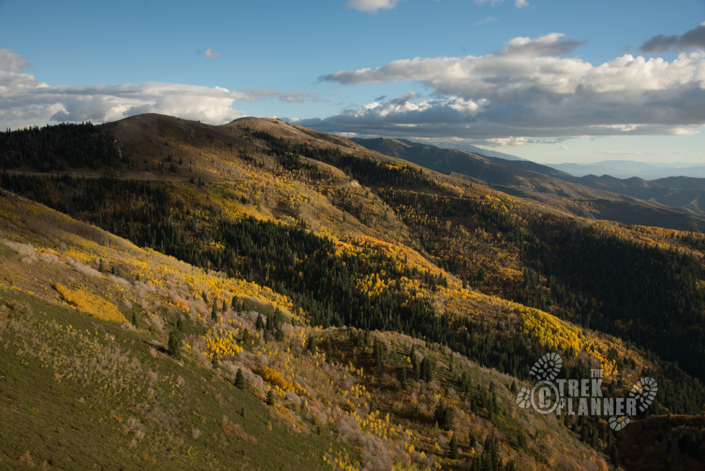 The incredible view and colors above Bountiful.