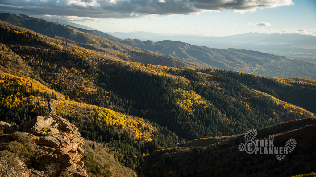 The wide view of the canyon and the Wasatch stretching out south.