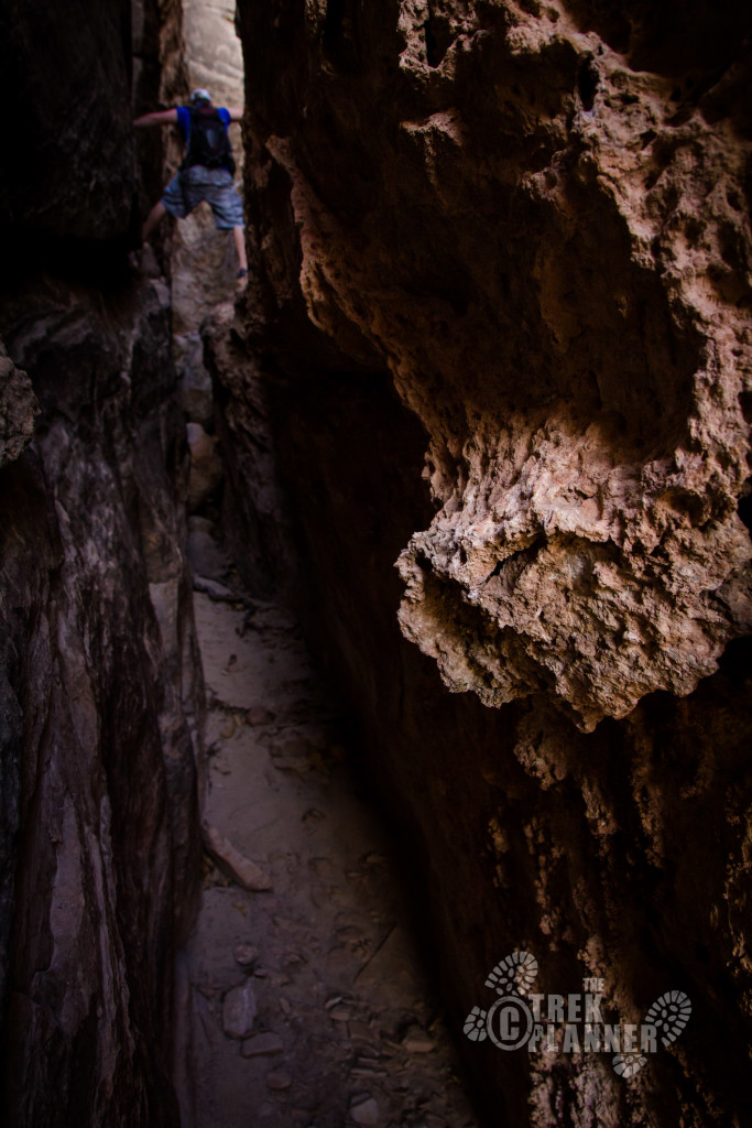 A narrow slot canyon in Surprise Valley.