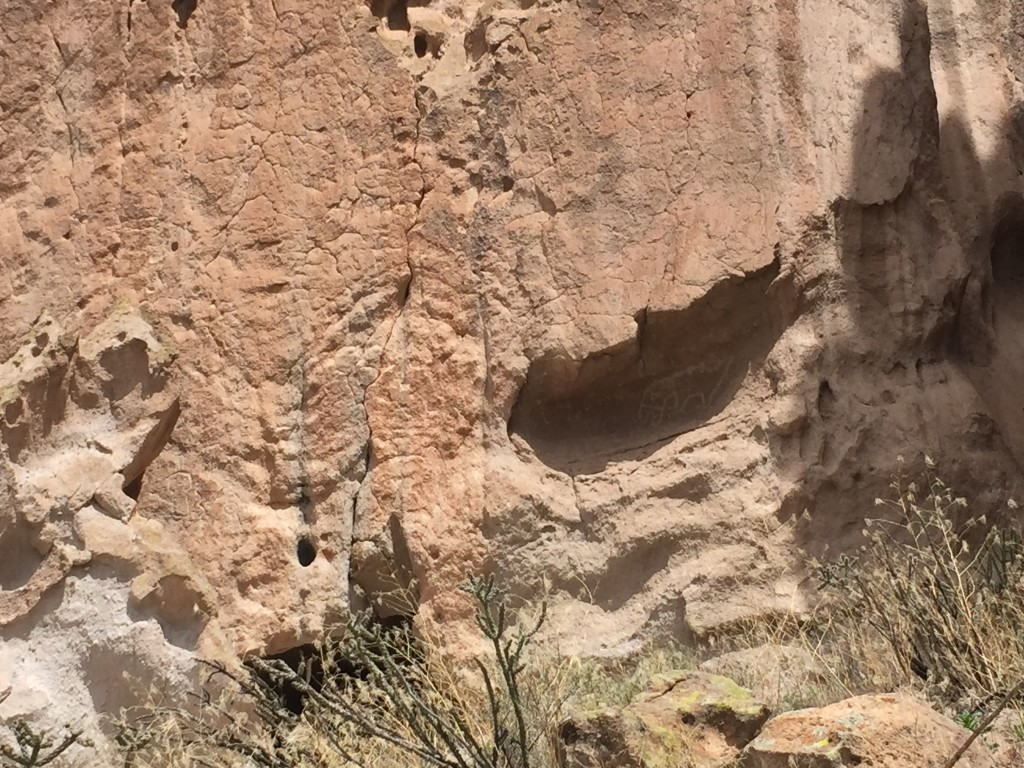 There are many pictographs around the canyon