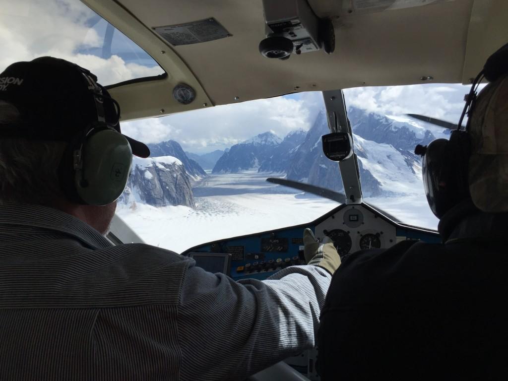 Looking back down Ruth Glacier