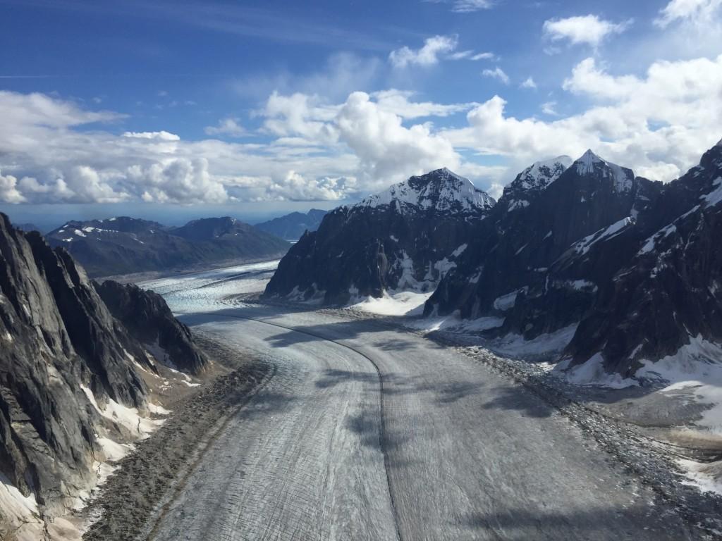 Looking down Ruth Glacier