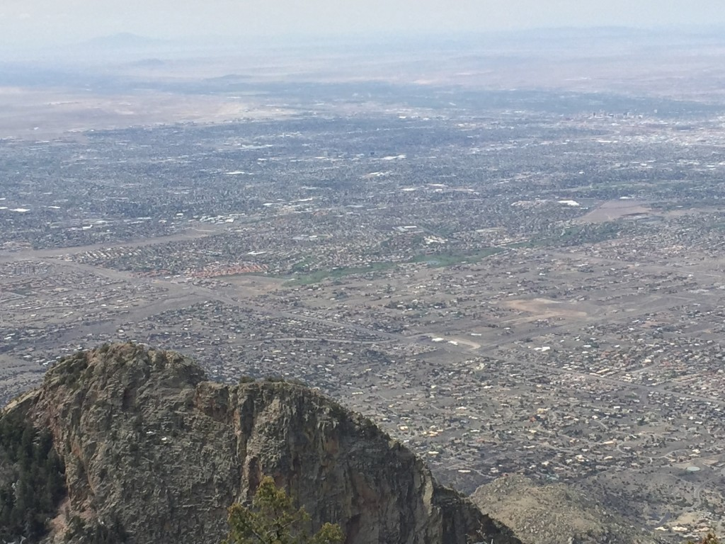 Looking back down in Albuquerque