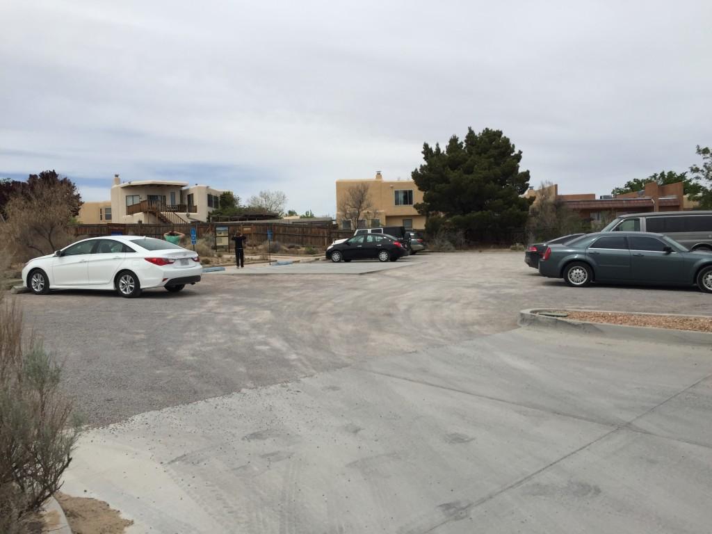 Parking lot at Piedras Marcadas Canyon