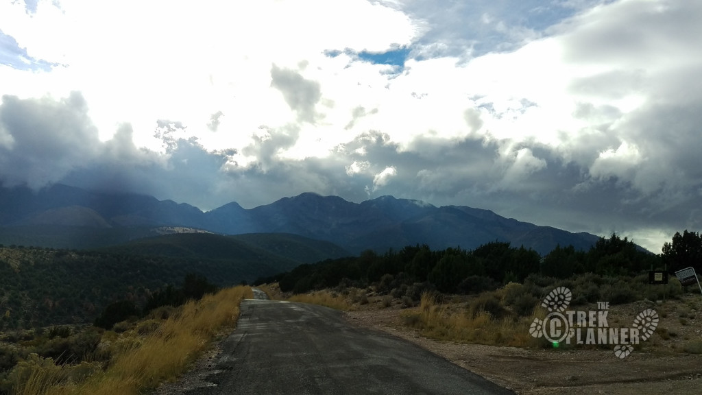 Driving to Deseret Peak, the highest peak in the central of the photo.