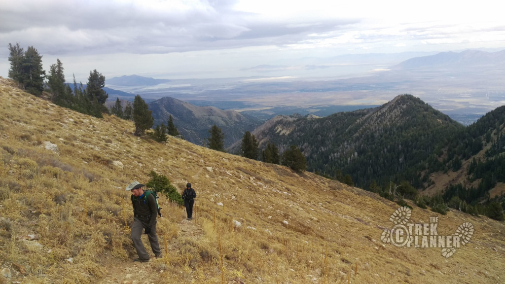 Starting the climb around the back and to the top of Deseret.