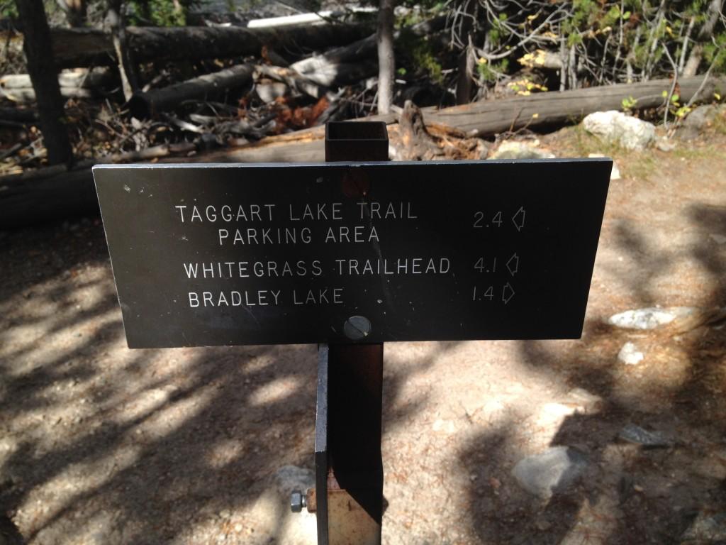 Sign at Taggart Lake