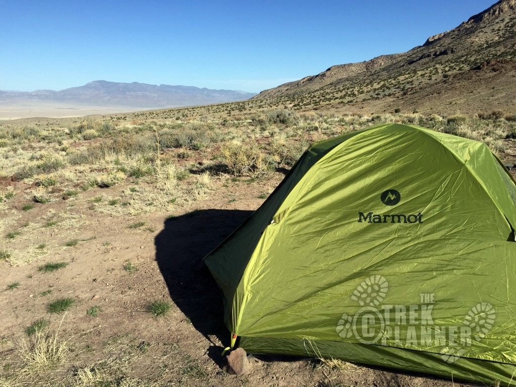 Camping on a knoll near Frisco Utah