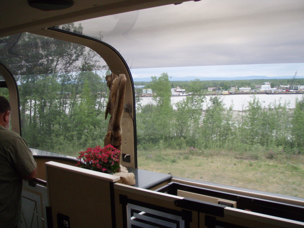 Looking back across the river towards the town of Nenana
