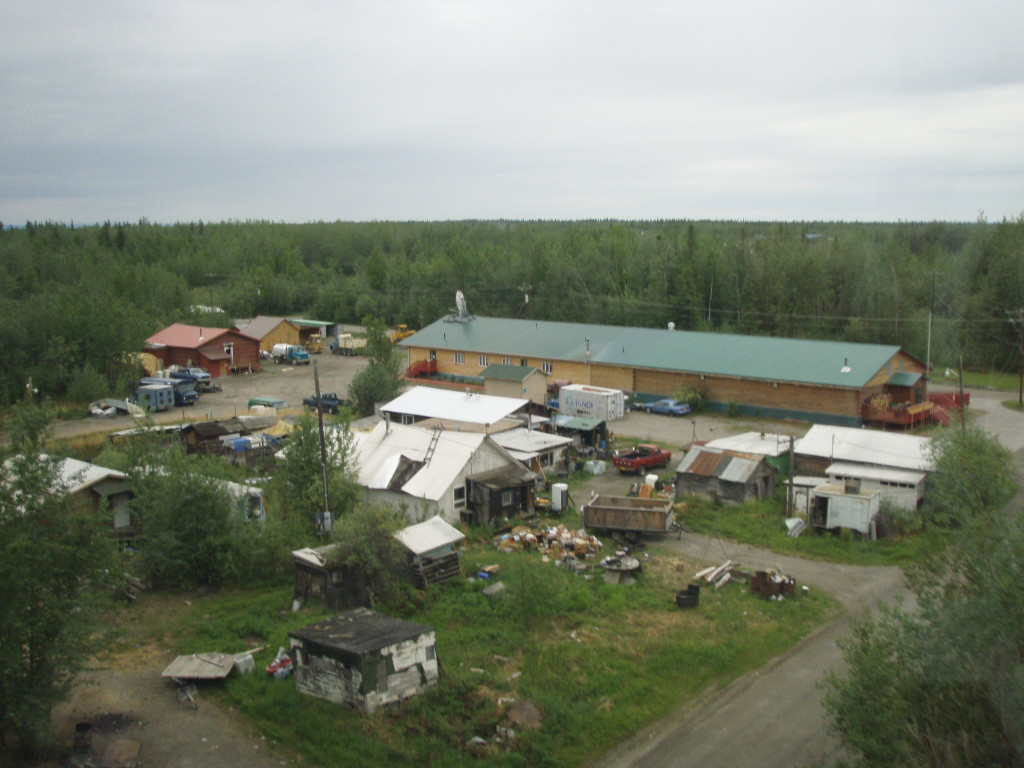 Parts of the town of Nenana