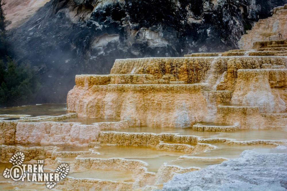 Yellowstone Park Elevation : Mammoth hot springs yellowstone national park the trek