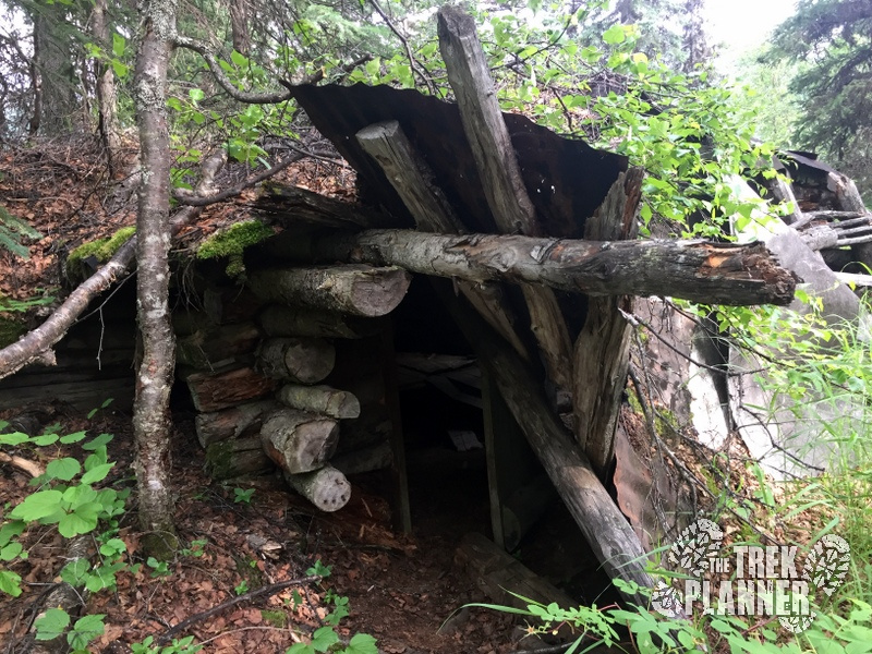 Here is the entrance to the cabin