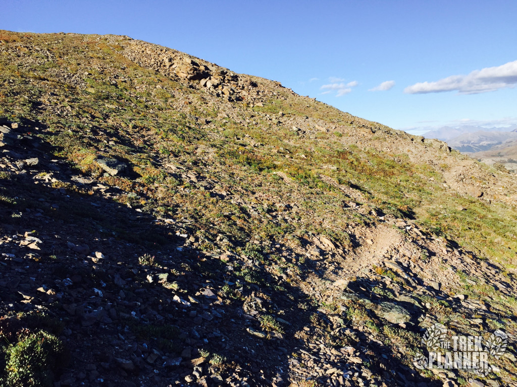 I hiked to the left of this slowly gaining in elevation and then I came to the top of the Castle.
