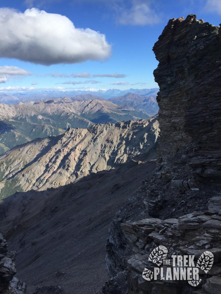 Sheer cliff edge