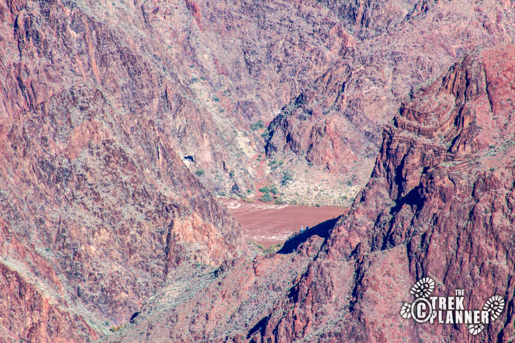 You can see the mighty Colorado River from Mather Point