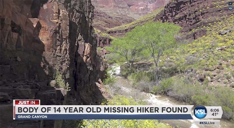 Body Found in Grand Canyon.